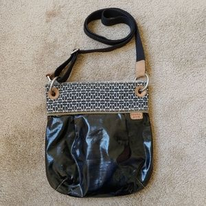Fossil Black Canvas Key per Crossbody Bag